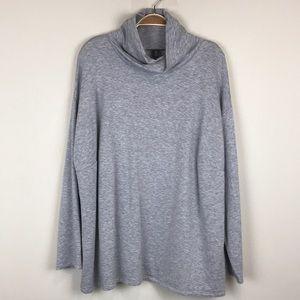 Eileen Fisher Tencel Fleece Sweatshirt 2X Gray
